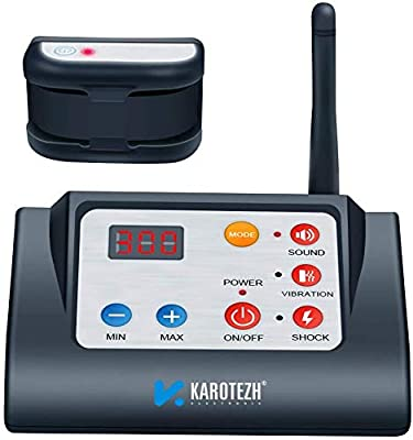 KAROTEZH 2 in 1 Wireless Dog Fence Training Collar, Electric Shock Collars Pet Fencing System Rechargeable Waterproof Receiver for Small Medium Large Dogs Indoor Outdoor (Up to 300M)