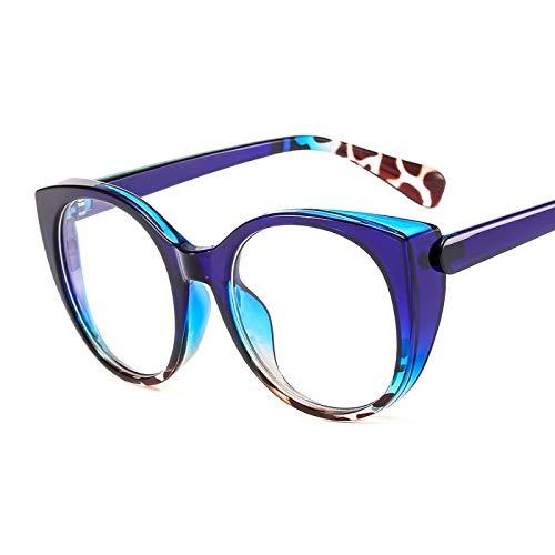 Gafas de Sol Sunglasses Montura De Gafas Transparentes Grandes para Mujeres Y Hombres, Montura De Anteojos Ópticos con Ojo De Gato Vintage, Montura De Lentes Transparente