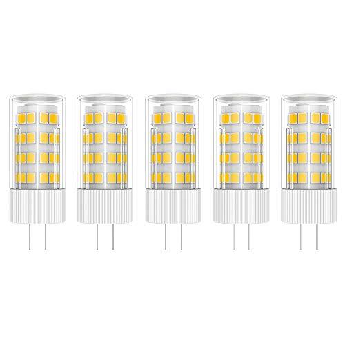 5X G4 LED Lampen 5W LED Leuchtmittel 51 SMD 2835LEDs Warmweiß 3000K LED Lampe Super Hell 500LM LED Bulb 360° Abstrahlwinkel AC/DC 12V
