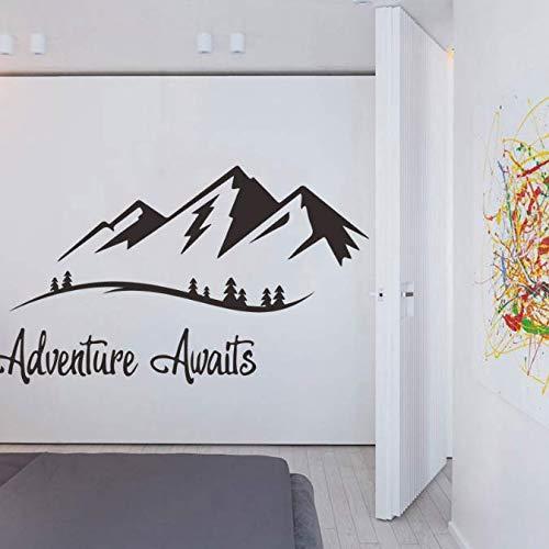 Muurstickers, Spreuken Avontuur Wacht Op Woonkamer Studie Woondecoratie Muurschildering Decals Behang Berg