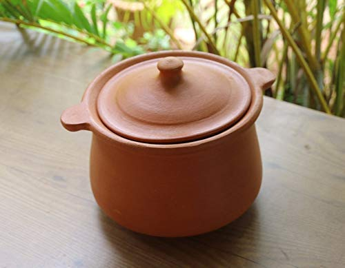 Village Decor Indian Earthen Clay Cooking Bowl