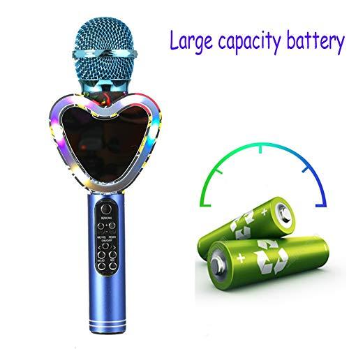 Drahtlose Karaoke, Mikrofone Bluetooth Mic Kondensator Lautsprecher Hand Music Player Singen Recorder Ausgangs KTV Party Im Freien Mit LED Licht