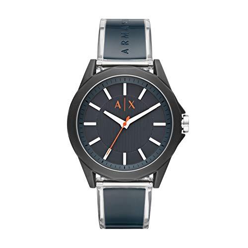 Armani Exchange Herren Analog Quarz Uhr mit Polyurethan Armband AX2642