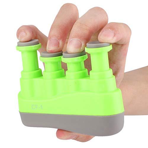 Drfeify Esercitatore per Dita,Finger Trainer Portatile Tensione Forza del Dito a Mano variabile Grip Exerciser Strumento per l'allenamento delle Dita per Chitarra per Pianoforte (Light Green)