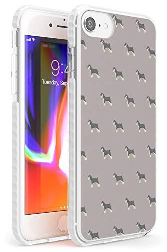 Hülle Warehouse Schnauzer Dog Pattern Impact Hülle kompatibel mit iPhone 7/8 / SE TPU Schutz Light Phone Tasche mit Haustier Hündchen Rasse Tier Design