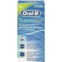 Oral B 50 piezas pre-cortadas Superfloss - Pack de 3