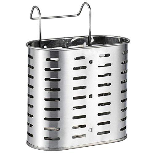 LIPENLI Colgantes de acero inoxidable palillos/Cuchara/Tenedor/cuchillo de drenaje cesta for cubiertos Colgando almacenamiento vertical Escurridor