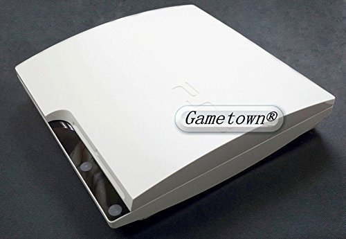 Gametown® White Full Housing Shell Case Cover For PlayStation 3 PS3 Slim CECH-3000 CECH-30XX