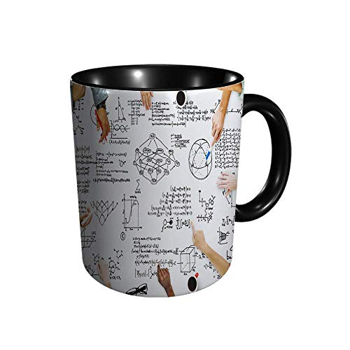DJNGN Fórmula matemática Ecuación Símbolo matemático G Taza de cerámica Taza lisa, tazas de café, taza de té, para oficina y hogar, regalo de salud, capacidad máxima de 11 oz, impresión completa