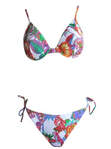 La Perla Oceano by Bügel-Bikini 001_40 in Weiss/rot, Gr. 40 B-Cup