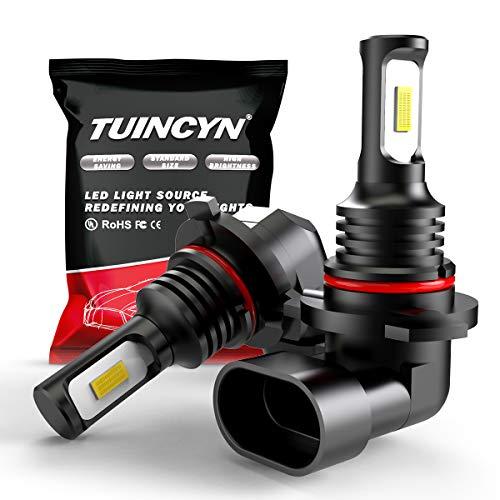 TUINCYN Ampoule antibrouillard LED 9006 HB4 extrêmement brillante Jaune doré 3000K 2400 Lumens 3570 CSP-Chips Feux de jour / DRL (Pack de 2)