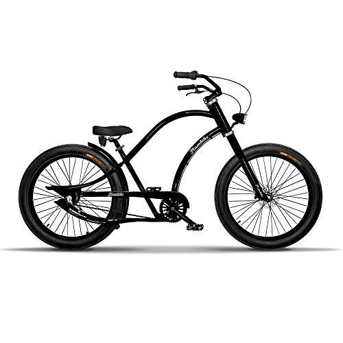 Bicicleta para Hombres Chopper Beach Cruiser Bike Bici Hombre 26 Bike Bicicleta Crucero Chopper Neumáticos Anchos
