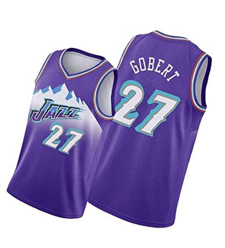paglutaw Deportes de encargo de la moda de Jaz de las camisetas del baloncesto de Gobert NO.27 púrpura para los hombres