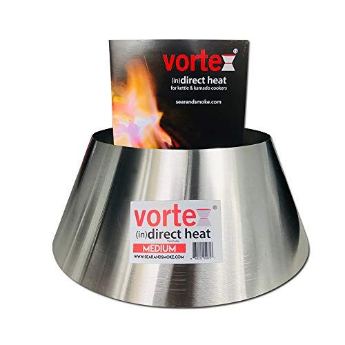 Medium BBQ Vortex BGE Kamado Kettle Charcoal (in)direct cooking - GENUINE, USA MADE
