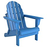 Folding Adirondack Chair, Patio Outdoor Chairs by Gettati, HDPE Plastic Resin Deck Chair, Painted Weather Resistant, for Deck, Garden, Backyard & Lawn Furniture, Fire Pit, Porch Seating by Gettati