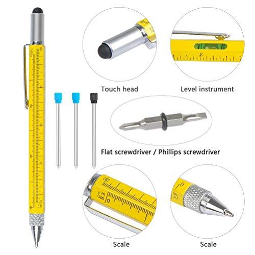 Nuevo Multi Pen Tool Stylus Gift DIY Amazing con destornillador Nivel de burbuja Negro