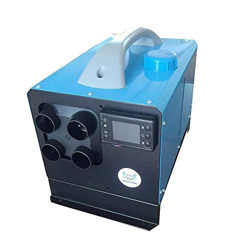 Calentador De Estacionamiento Diesel, Control Remoto, Pantalla LCD, 12V, 5KW, 40 * 25 * 32cm, Teledirigido,Calentador De Aire Diésel, Calefacción Estática Furgoneta Diesel Calentador Coche