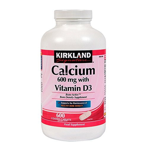 Kirkland Calcium 600 mg with Vitamin D3-600 Coated Caplets (2 Tubs)