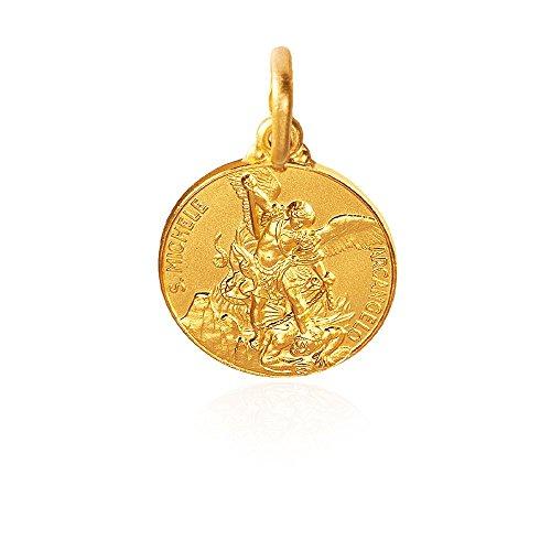 Heiliger Michael Erzengel. Anhänger, Gold Medallion/Medaillon 14K 2.2 g, Durchmesser der Medaille: 14 mm