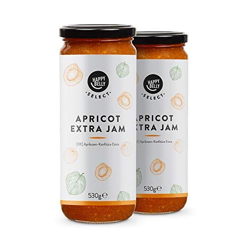 Amazon-Marke: Happy Belly Select Aprikosenkonfitüre Extra, 75% Frucht, 530g, 2Stück