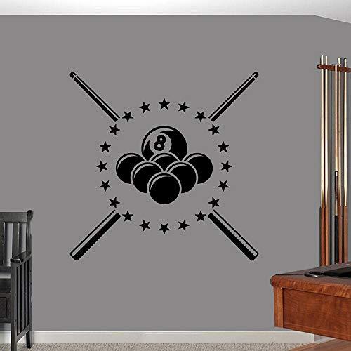 Piscina, billar, hombre, cueva, deportes, deportes, hogar, vinilo, adhesivo para pared, papel tapiz, decoración de pared DIY, decoración de sala de juegos