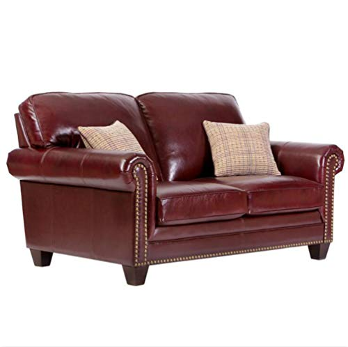 AAW Sofá de Piel de Vaca con Muebles en Forma de L y Esquina Sencillo sofá de salón de Estilo Americano