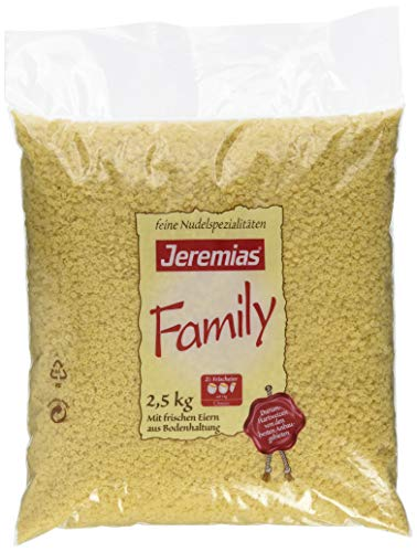 Jeremias Suppen-Sterne, Family Frischei-Nudeln, 1er Pack (1 x 2.5 kg Beutel)