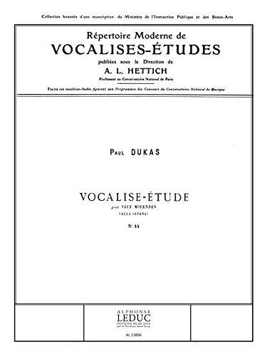 Paul Dukas: Vocalise (Med) (Voice & Piano)