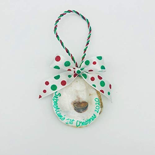 Baby's First Christmas Oyster Ornament