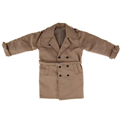 sharprepublic 1/6 Trenchcoat Windcoat Outerwear Long Jacket Für 12 '' Männliche Figur - Khaki