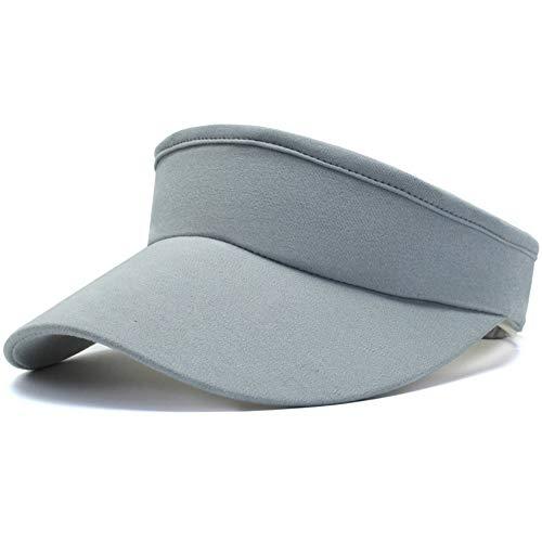 Women's Sun Visors Long Brim Thicker Sweatband Adjustable Sport Visor Hat (Style3_Light Grey)