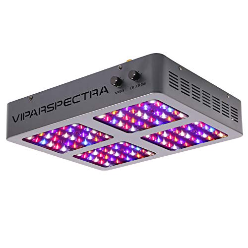 VIPARSPECTRA Dimmable DS600 600W LED Grow Light, 12-Band Full Spectrum for Indoor Plants Veg and Flower