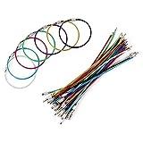 Vegena - Llaveros de alambre de metal, paquete de 32 llaveros de 2 mm con conector de acero inoxidable para colgar etiquetas de equipaje y etiquetas de identificación