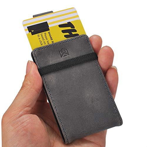 Ebax Herren Geldbörse/Geldbörse mit RFID- / Kreditkartenfächern - Grau - Segeltuch