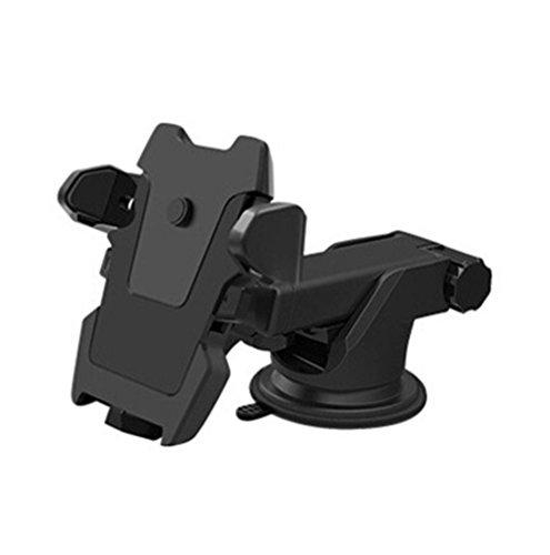 DaoRier KFZ Handyhalterung Lüftung 360 Grad Auto Halter KFZ Halterung für Navi iPhone 7/7Plus 6 Plus / 6 / 5S / SE / 5/ 4S / 4 Galaxy Huawei usw - Schwarz