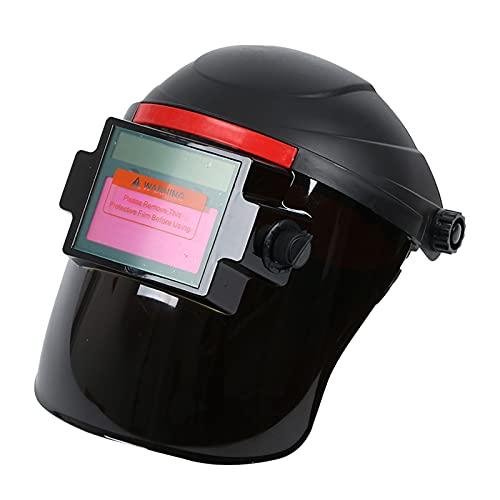 perfk Casco de Soldadura con Oscurecimiento Automático, Máscara de Soldador de Energía Solar, Gafas de Soldador de Sombra Ancha, Protección Ocular para TIG