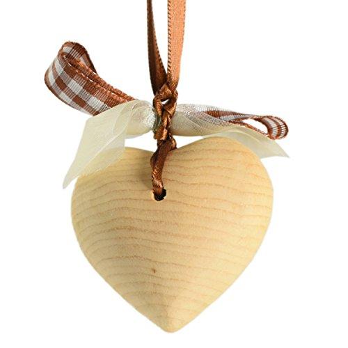 4betterdays.com NATURlich leben! Zirbenherz mit dekorativem Band - Herz aus Zirbenholz