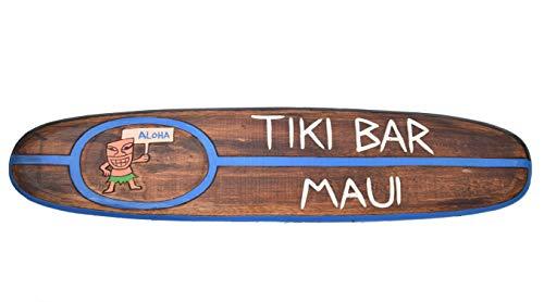 Tabla de surf de 100 cm Tiki Bar Aloha decoración para colgar, estilo lounge restaurante tabla de surf