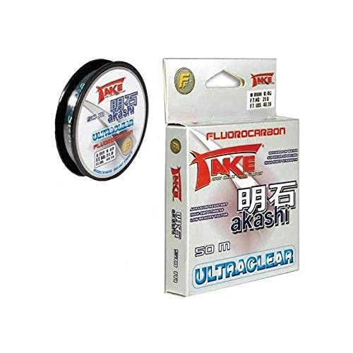 Lineaeffe Take Akashi Fluorocarbon Ultraclear 0.35 mm 50 m Fluorocarbone Ligne de Pêche Invisible Mer Eau Douce Spinning Carnassiers