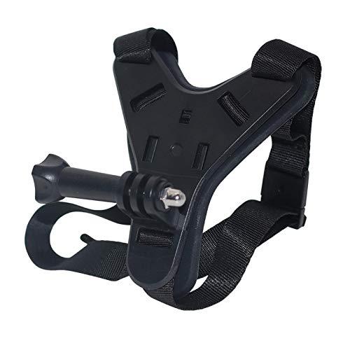 Correa para casco de motocicleta, correa para la barbilla, cámara fotográfica, soporte para la barbilla para GoPro Hero 8, 7, 5, diseño antideslizante y resistente a los golpes, accesorio deportivo