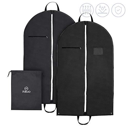 FR FiRiO® 3-in-1 Kleidersack Anzug Schutzhülle (120 GSM) | 2X Anzugtasche Kleidertasche Business | Hochwertige Kleiderhülle atmungsaktiv mit Reißverschluss | Reise Anzugsack Herren mit Tragegriff