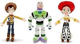 Disney Toy Story - Woody, Buzz Lightyear, and Jessie - Plush Doll Set of 3