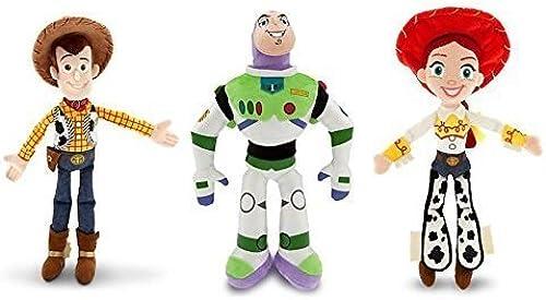 Disney Toy Story - Woody, Buzz Lightyear, and Jessie - Plush Doll Set of 3 by Disney