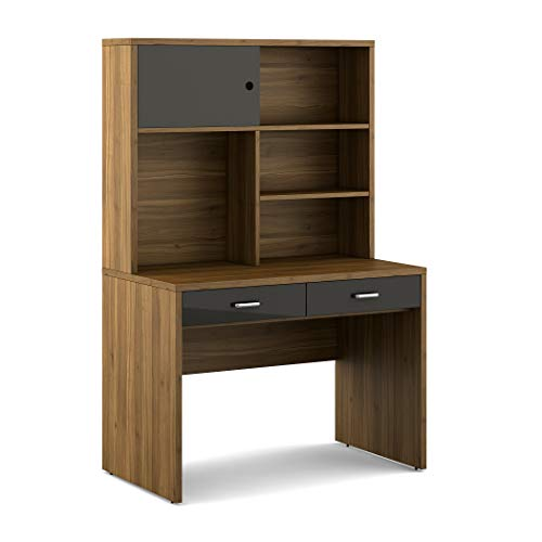 Home Centre Quadro Study Table - Walnut