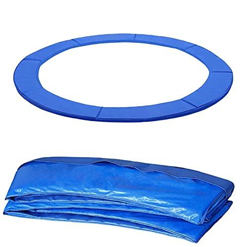 HEPU Accesorios para Cama elástica Cubierta de Borde, 6ft 8ft 10ft 12ft 13ft 14ft, Ancho 24-29 Cm Protector de Borde de la Cubierta del Resorte, PVC - Resistente a los Rayos UV, Azul12FT