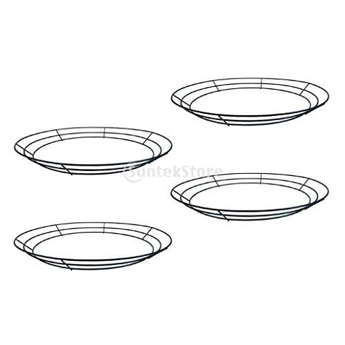Kücheks 4er Pack runder Metalldrahtkranzrahmen-Formaufhänger - Sukkulenter Topf Metall hängender Pflanzer Pflanzenkorbhalter - 30 cm