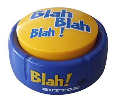 Blah Button - Talking Button Features 12 Blah Sayings - Talking Novelty Gift with Funny Sound Clips