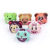 *Riviax - Pilota Anti Estrès Suau [6 *Pack] Boles amb Dissenys de Dibuixos Animats Multicolor - Petites Joguines de Regal per a Nens i Adults