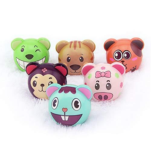 Riviax - Pelota Anti Estrés Suave [6 Pack] Bolas con Diseños de Dibujos Animados Multicolor - Pequeños Juguetes de Regalo para Niños y Adultos