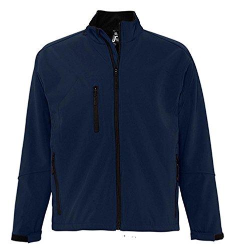 Sol'S Relax - Softshell Homme - Veste zippée à Manches Longues imperméable et Respirante - Bleu Abyss - 3XL